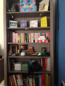 One book case that was full to the brim but now has only my favourite inspiring books and things.